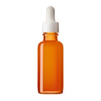 Dropper bottle amber glass essential oil bottle mockup brown eyedropper flacon for nasal extract