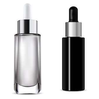 Dropper bottle. cosmetic serum pipette bottle 3d   illustration. glass package