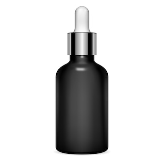 Dropper bottle. serum cosmetic. clear vial