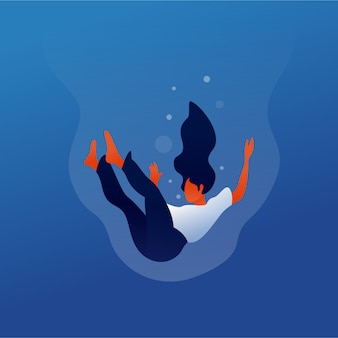 Drowning illustration
