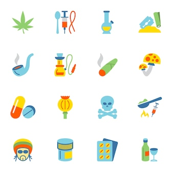 Drug icons collection