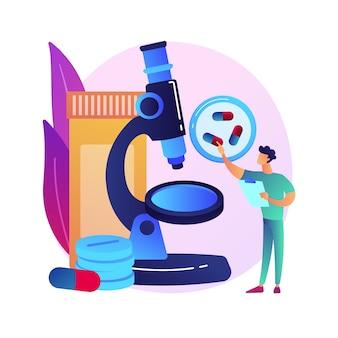 Illustrazione di concetto astratto di monitoraggio della droga. monitoraggio terapeutico dei farmaci, assistenza sanitaria di base, braccialetto alla caviglia, chimica clinica, misurazione del livello di farmaci nel sangue.