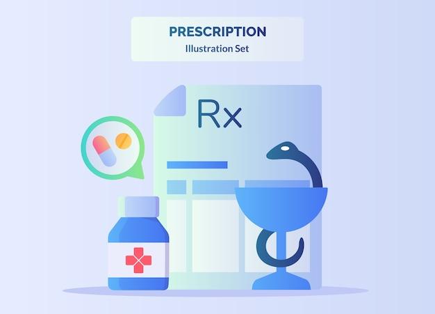Drug tablet pill in bottle snake glasses