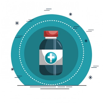 Drugs bottle medical icon