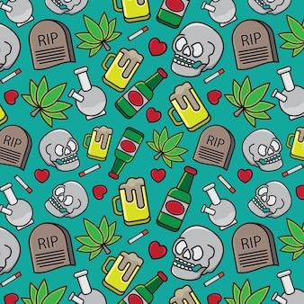 Drugs icon design pattern