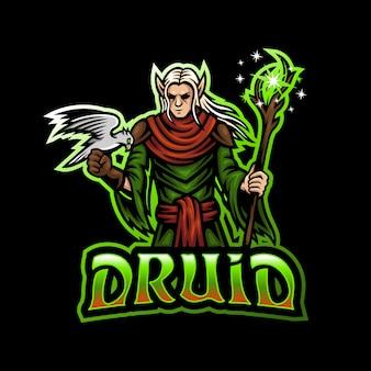 Друид, ведьма, талисман, логотип киберспорт