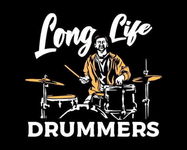 Drum player illustration