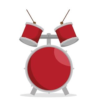 드럼 세트 음악 악기 디자인
