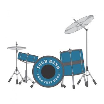 ドラムセット Premiumベクター