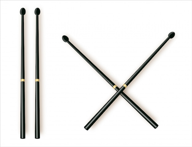 Drum sticks simple icon on white background