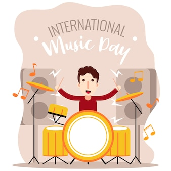 Drummer boy international music day