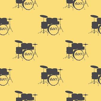 Образец барабанов, музыкальная иллюстрация. креативная и роскошная обложка