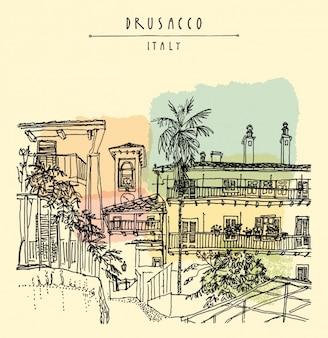 Drusaccoの背景デザイン