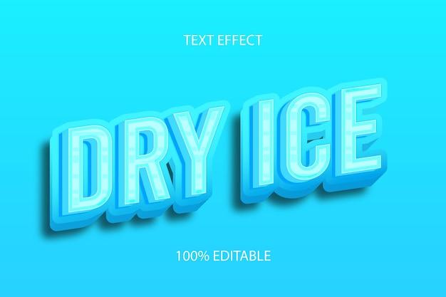드라이 아이스 색상 하늘색 편집 가능한 텍스트 효과