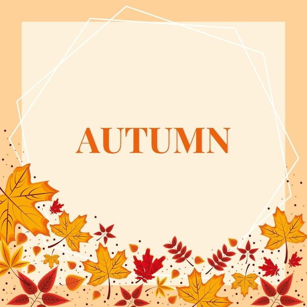 乾燥した葉の葉の秋
