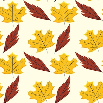 마른 잎 패턴