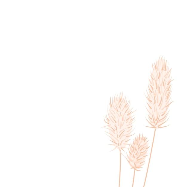 흰색 배경에 마른 엉겅퀴 결혼식 초대장 디자인 h