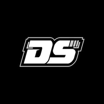 D 편지 로고 디자인