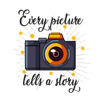 Dslr camera logo for t shirt design