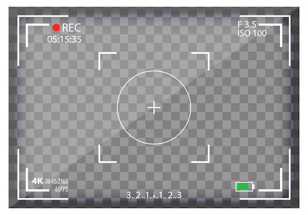 カメラビューファインダー、ミラーレス、dslr。デジタルフォーカス。