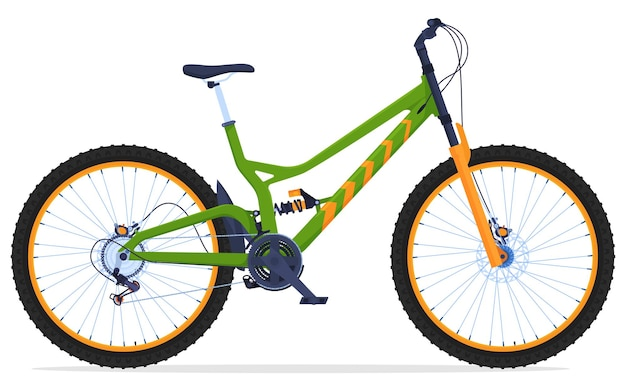 Dual suspension mountain bike active way of life bicycle for travel on difficult terrain