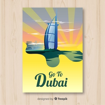 Dubai travel poster