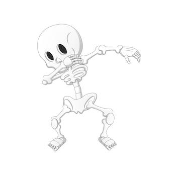Dubbing cartoon skeleton