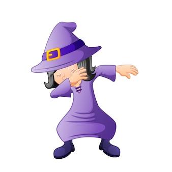 Dubbing cartoon witch