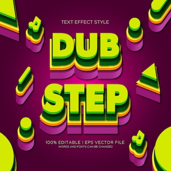 Dubstep 3d text effects