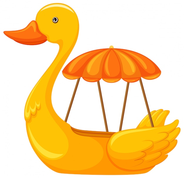 A duck boat on white background