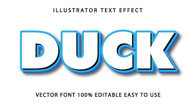 Duck   editable text effect
