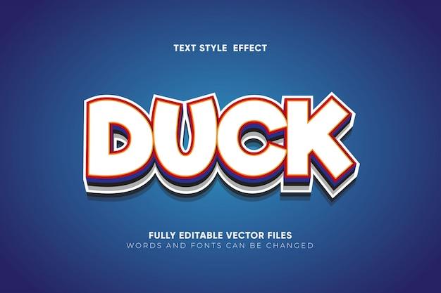 Duck editable vector text effect