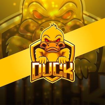 Duck esport mascot logo