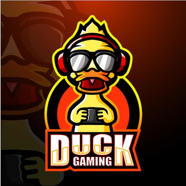 Duck gaming mascot esport illustration
