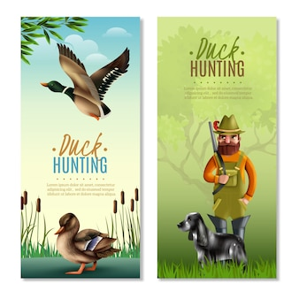 Duck hunting vertical banners
