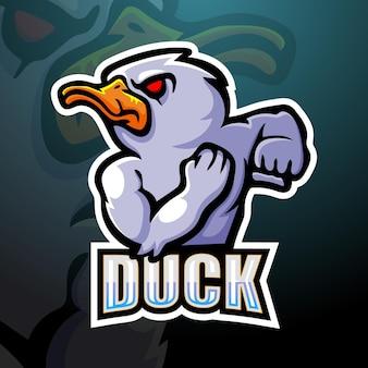 Duck mascot esport illustration