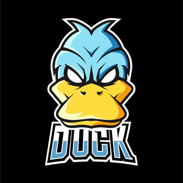 Duck sport and esport gaming mascot logo