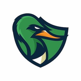 Duck - vector logo/icon illustration mascot
