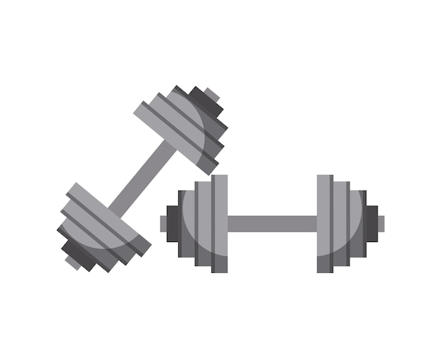 Dumbbell icon over white background. vector illustration