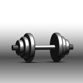 Dumbbell isolate on white background