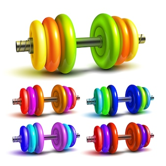 Dumbbell lifting sportive equipment