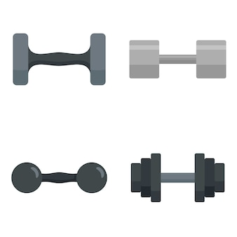 Dumbell icon set