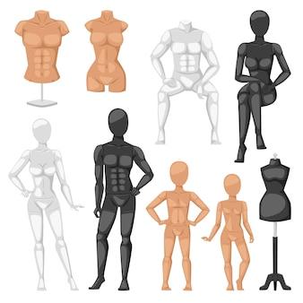 Dummy mannequin model  illustration.