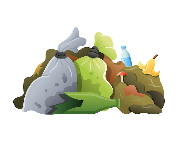 Dump littering heap
