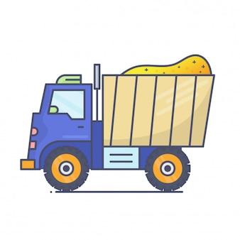 Dump truck construction machine