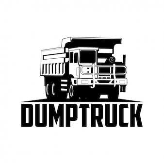 Dump truck logo sillhoute