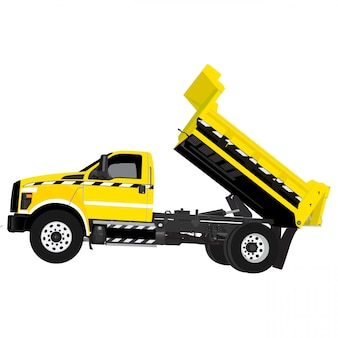 Dump truck vector illustration on white background easy editable