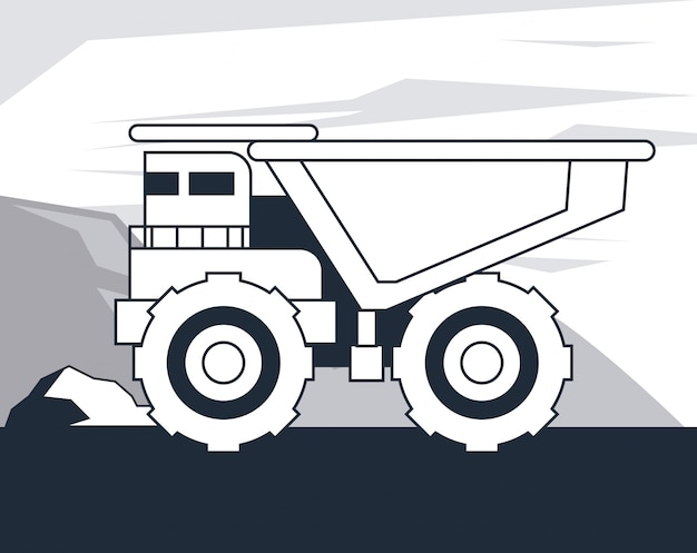 Dump truck vehicle