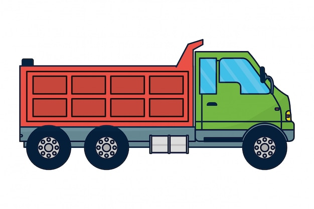 Dump truck vehicle