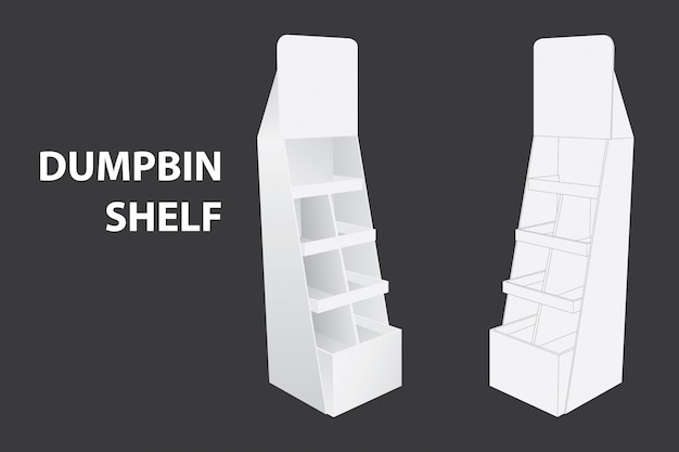 Dumpbin shelf or display rack for branding item